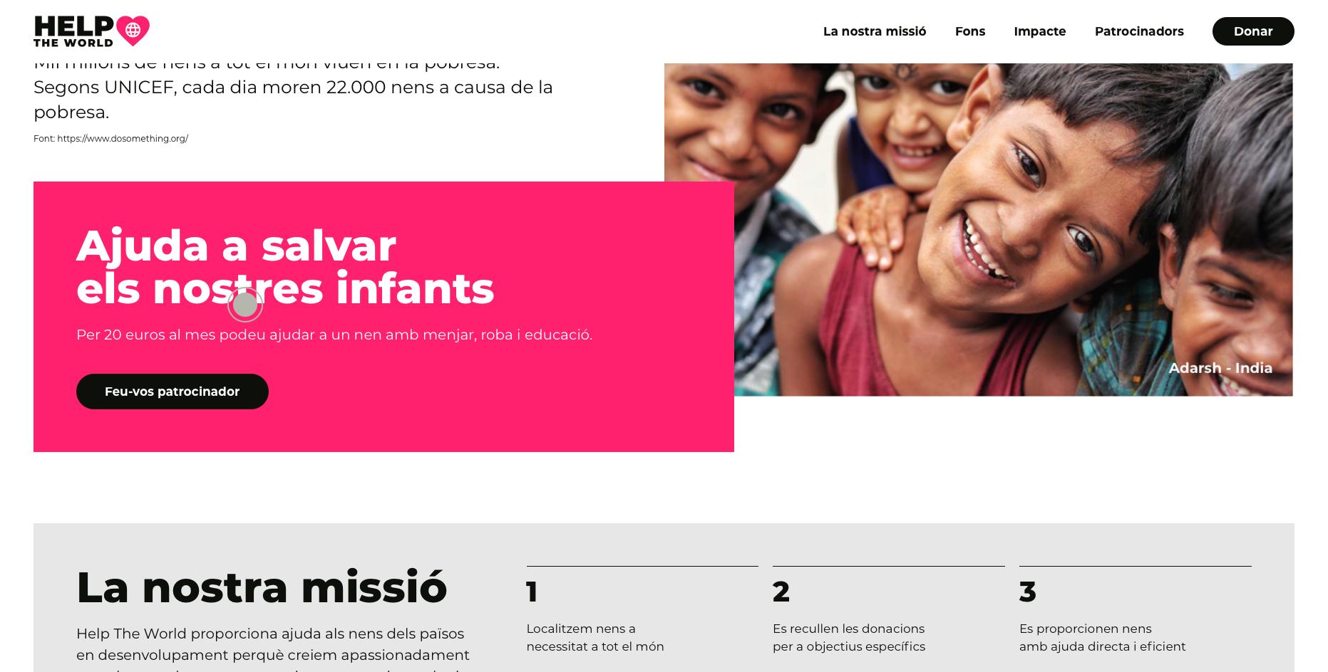 ONGs-Recaptació donatius